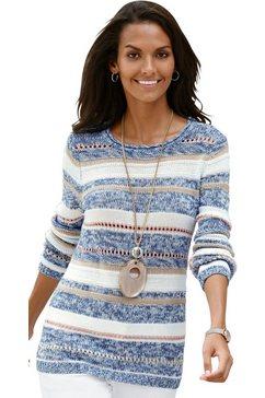 casual looks trui van zacht bouclégaren blauw
