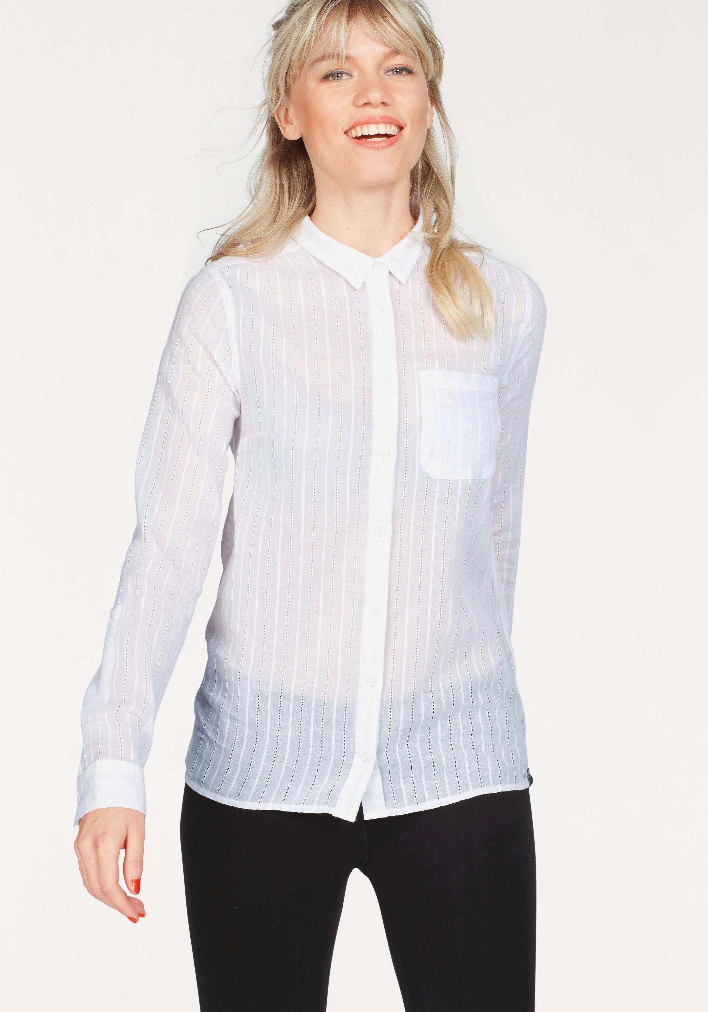 Superdry overhemdblouse »COTTON DOBBY STRIPE SHIRT« nu online bestellen