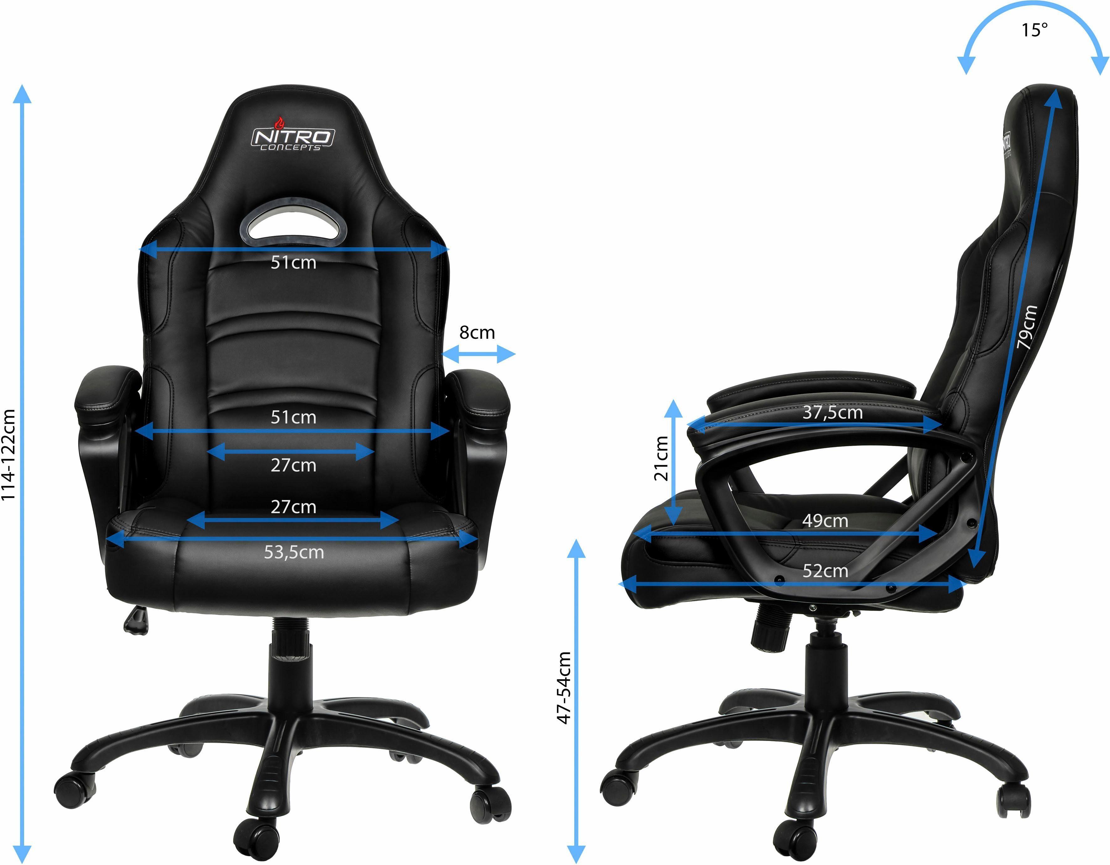 Nitro chairs c comfort gaming stoel online kopen otto