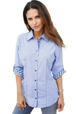 classic inspirationen blouse met vele details blauw