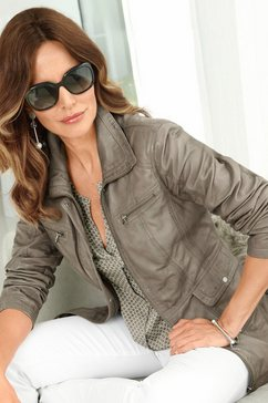 classic inspirationen leren jasje in een lichte used-look bruin