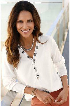 classic inspirationen blouse met siersteentjesgarnering beige