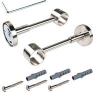 drager, liedeco, voor gordijnroeden ø 28 mm (per stuk) zilver