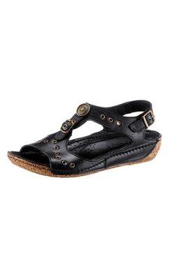 gemini sandaaltjes met sierstuds en sierknopen zwart