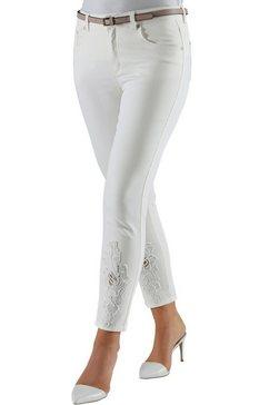 lady 7-8-broek in elastische jeanskwaliteit beige