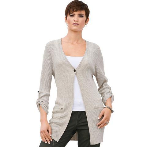Création L NU 15% KORTING: Creation L vest van licht mêleegaren met een stijlvolle glans