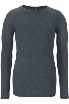 heat keeper functioneel shirt thermo-shirt met lange mouwen grijs