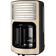 team kalorik filterkoffieapparaat tkg cm 2500 b, retro koffiezetapparaat beige
