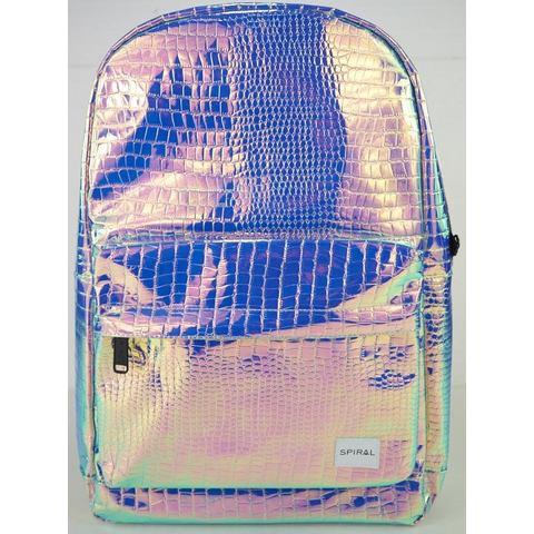 Spiral® rugzak met laptopvak, OG Platin, textured sapphire holographic