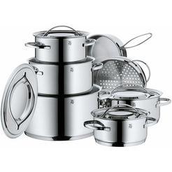 wmf pannenset gala plus (set, 12-delig) zilver