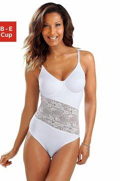 nuance t-shirt-body met beugels en asymmetrische kanten inzet voor. wit