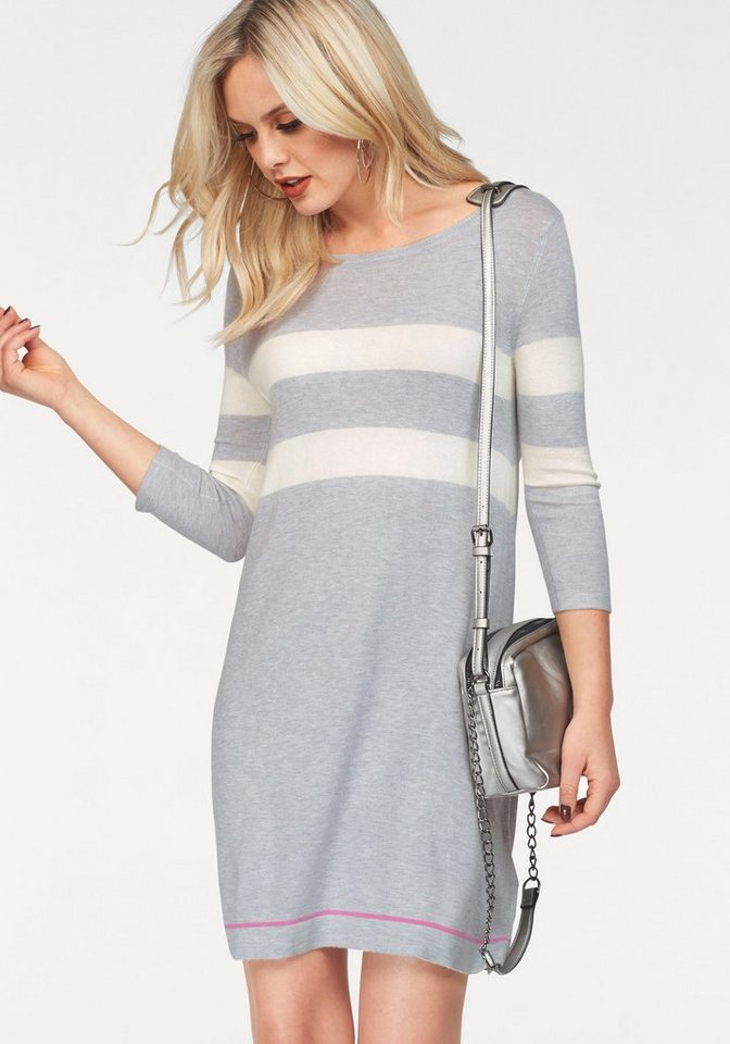 NU 21% KORTING: Vero Moda tricotjurk LACOLE grijs