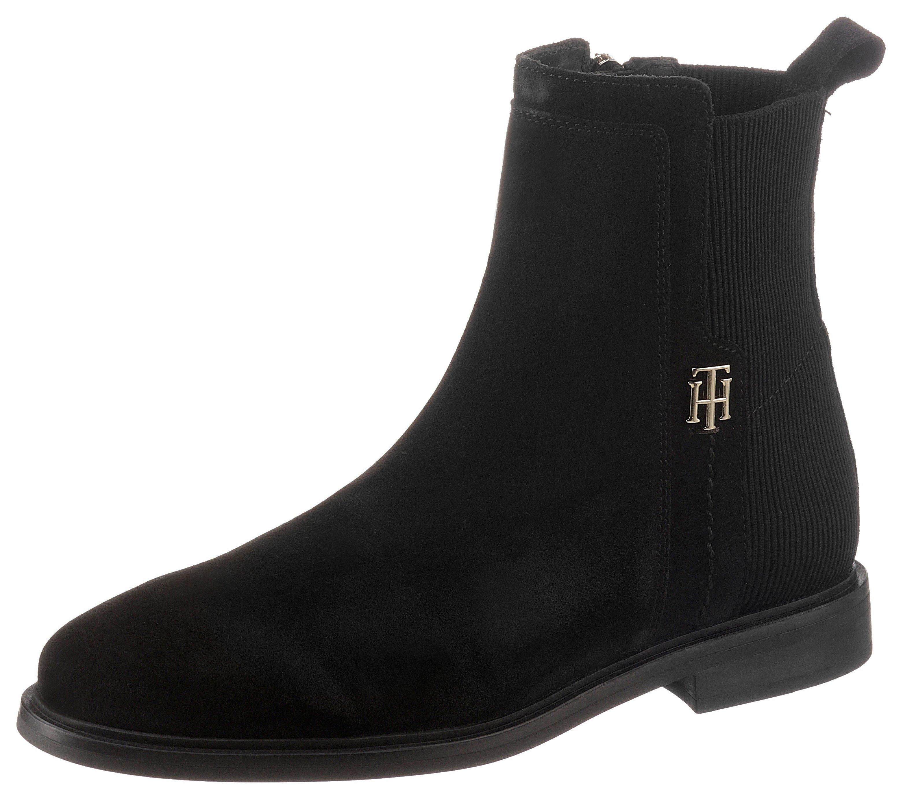 Tommy Hilfiger Chelsea-boots TH ESSENTIALS FLAT BOOT met th-sierelement - verschillende betaalmethodes