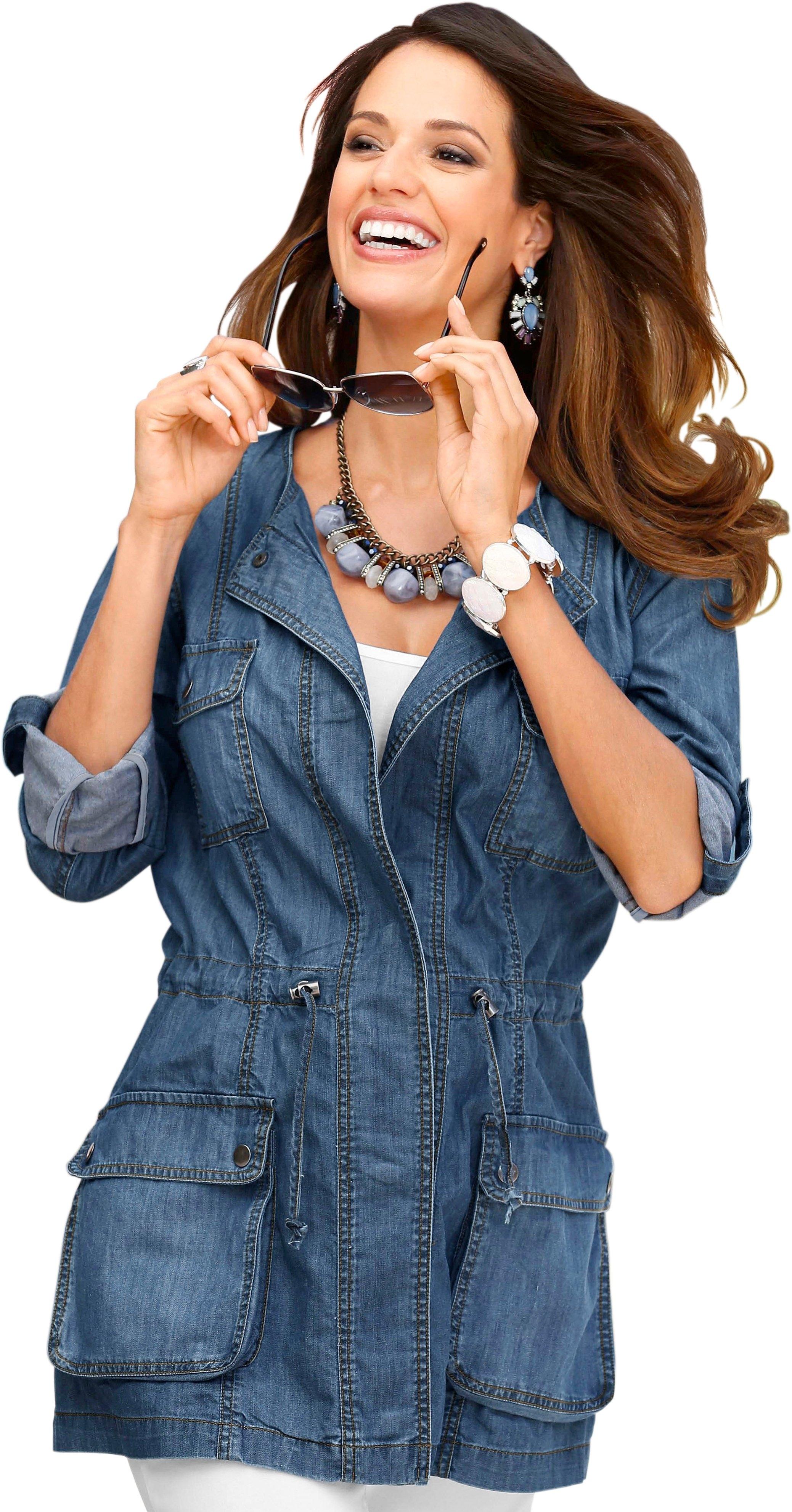 Classic Basics jeansjack in verlengd model voordelig en veilig online kopen