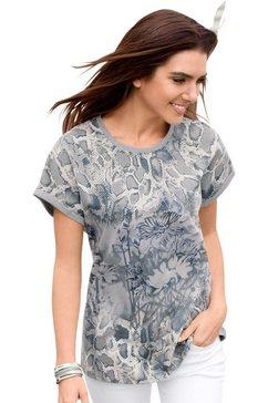 classic basics shirt met gedessineerd voorpand grijs