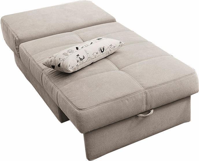Jockenhöfer Gruppe bedbank met slaapfunctie en bedkist, met binnenvering en los rugkussen nu online kopen bij OTTO