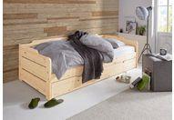 slaapbank met 2e slaapgelegenheid en rolbodem bruin
