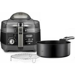 de'longhi airfryer multifry extra chef plus fh1396.bk multicooker met 4-in-1 functie, ook voor broodbakken, inhoud 1,7 kg zwart