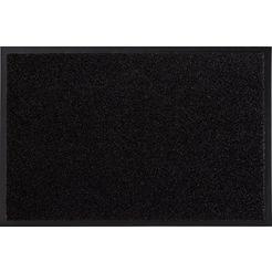 mat, »garden brush«, hanse home, rechthoekig, hoogte 9 mm, machinaal getuft zwart