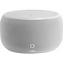 jbl »link 300« stereo-multiroom-luidspreker (bluetooth, wifi, spraakbesturing, chromecast, 50 w) wit
