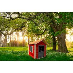 home deluxe speelhuis »het kleine slot«, bxdxh: 118x138x133 cm rood
