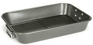 Patisse braad- en ovenschaal, met grillrooster, staal, 41x30 cm, »Carat« voordelig en veilig online kopen