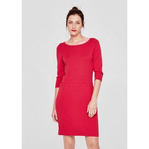 s.Oliver RED LABEL Gebreide jurk met detail bij de nek, Gebreide jurk Geaccentueerd, elastisch getailleerd model. Ruime ronde hals met knoopje bij de nek. 3/4-mouwen met rechte zoom. Metalen label aan de zoom. Losjes vallend model; lengte achterpand bijExtra gegevens:Merk : s.Oliver RED LABELKleur : rozeVerzendkosten : 3.95Maat/Maten : S (36);S (38);M (40);L (44);L (46)Levertijd : Levertijd: 3 - 5 werkdagenAanbiedingoude prijs: € 59.99