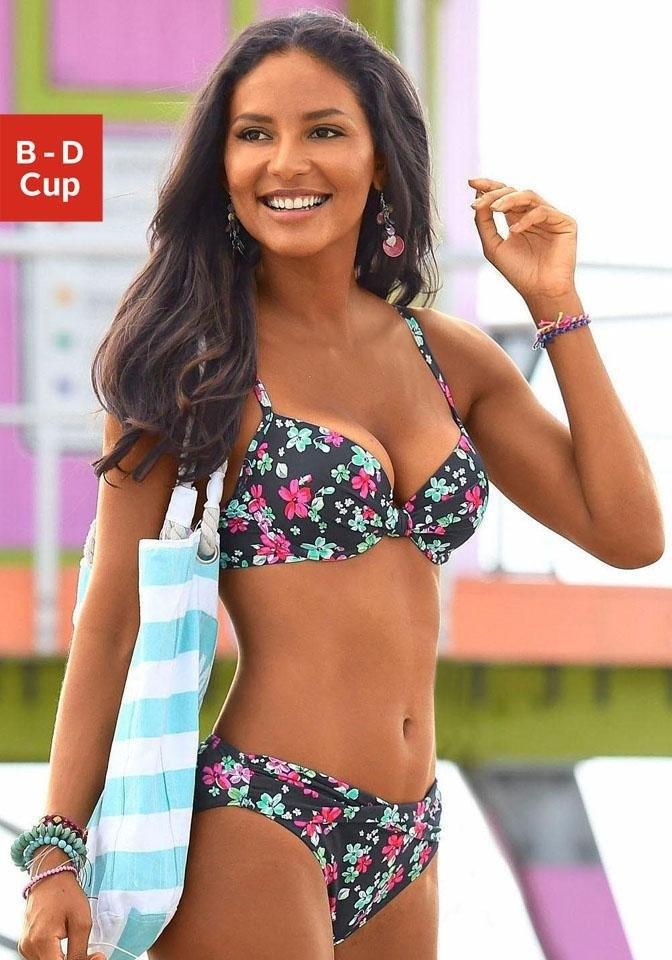 s.Oliver Beachwear s.Oliver RED LABEL Beachwear gewatteerde top met beugels nu online bestellen