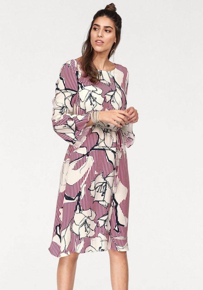 Marc O'Polo gedessineerde jurk (set 2-delig met strikbandjes) roze