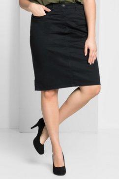 sheego basic sheego casual basic rok zwart