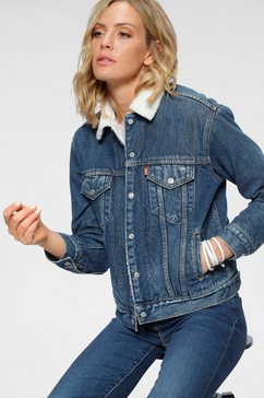 levi's jeansjack »ex-boyfriend sherpa« blauw