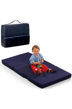 hauck vouwmatras fun for kids, sleeper uni navy, 60x120 cm inclusief transporttas (1 stuk) blauw