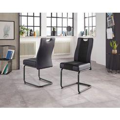 hela stoel erika s 2 of 4 stuks (set) zwart