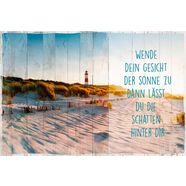 decoratief paneel »sonne am strand« multicolor