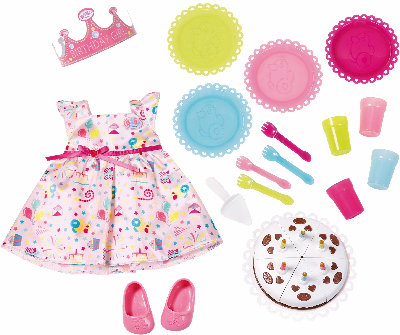 4d7de60b202 zapf creation poppenkleding en -accessoires, »baby born deluxe party set«  roze