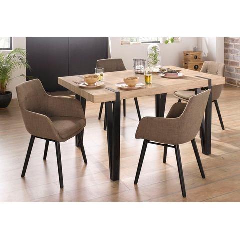 Eethoek Sanchez und Bradford, 5-delig met tafel, breedte 150 cm
