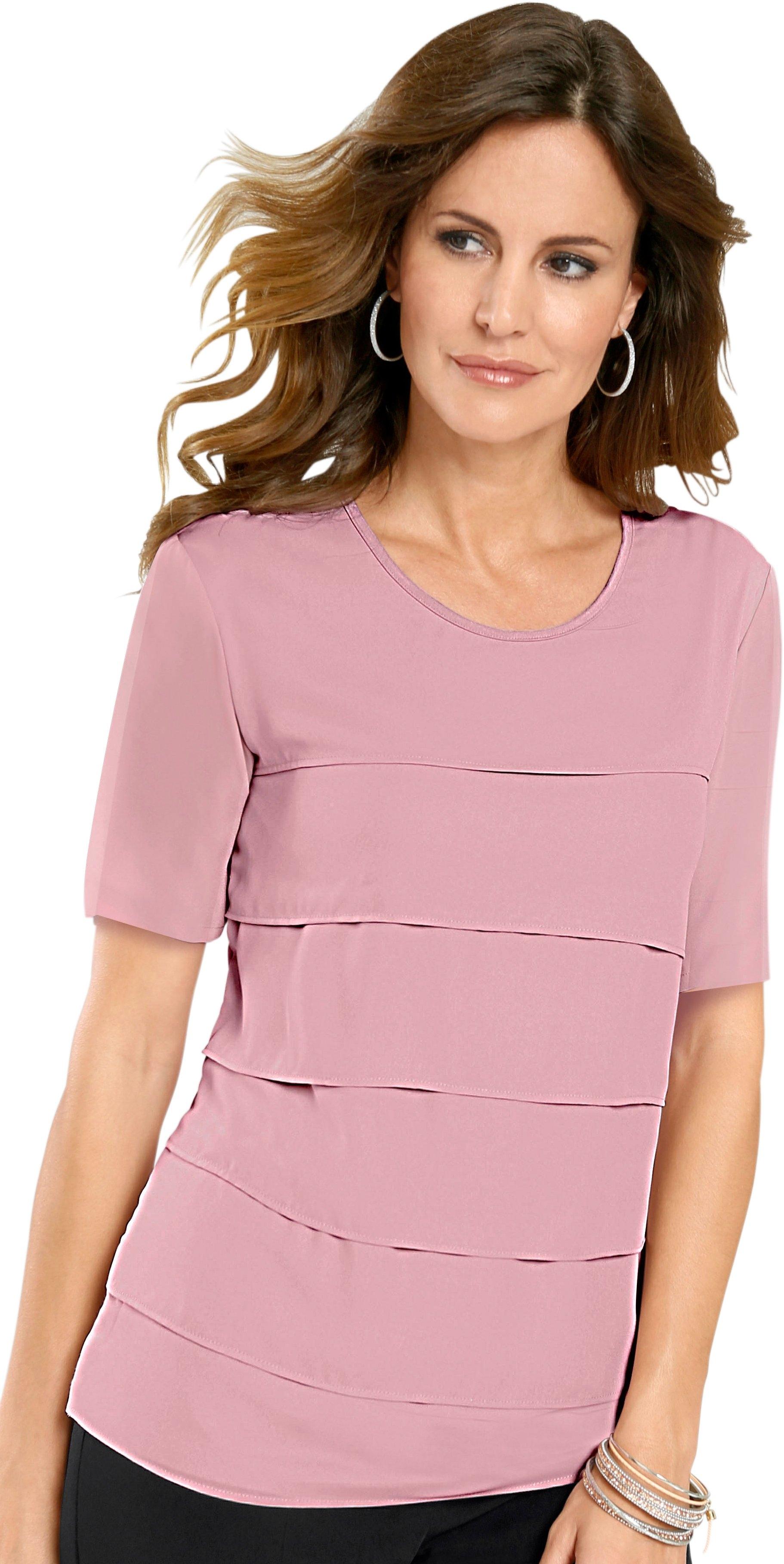 Lady blouse met flatteus vallende chiffonlagen voor voordelig en veilig online kopen