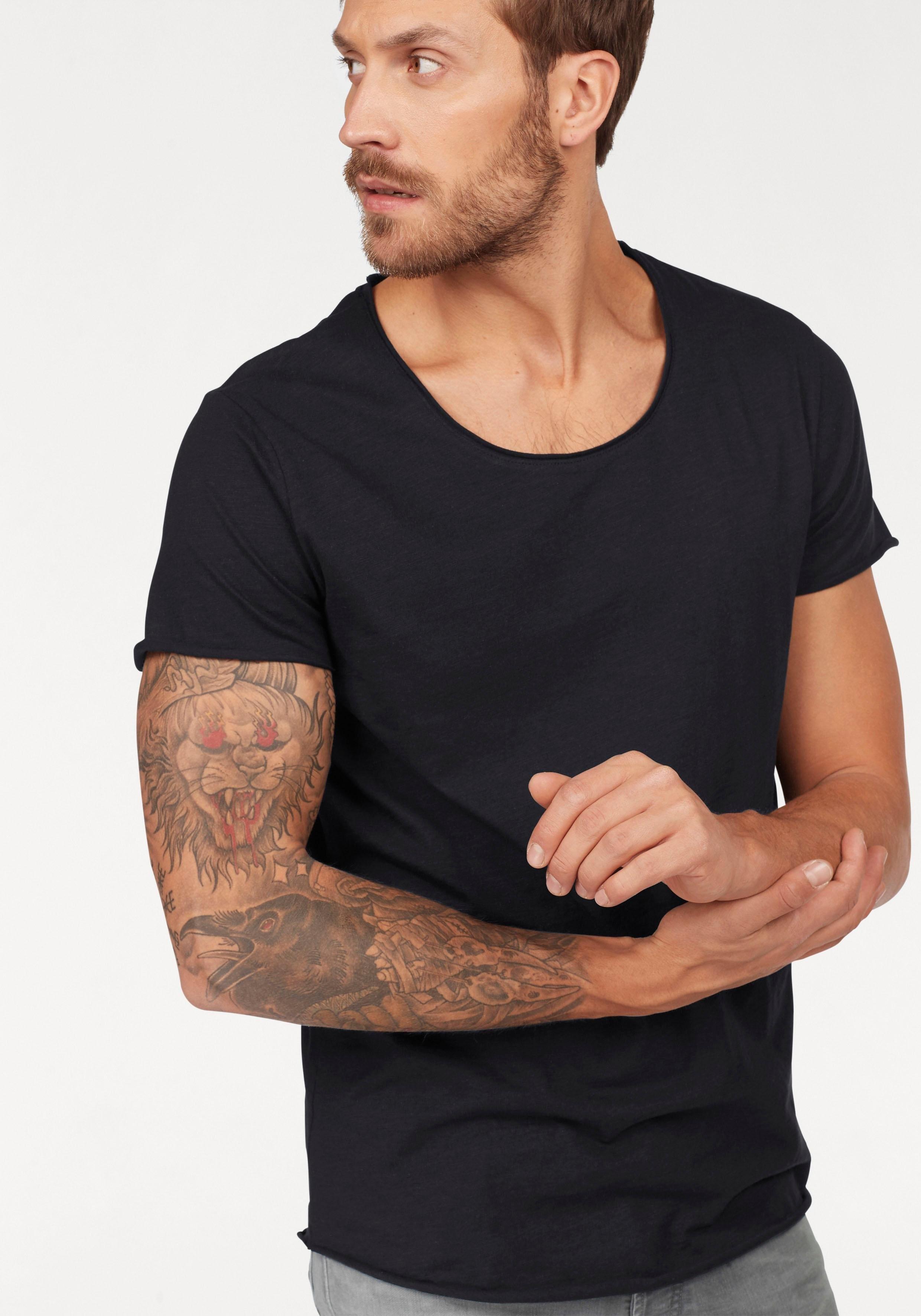 Jack & Jones T-shirt »JJEBAS TEE SS U-NECK NOOS« online kopen op otto.nl