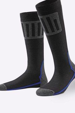 waeschepur skisokken (3 paar) zwart