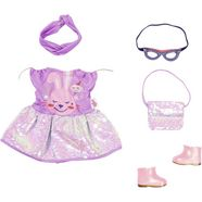 baby born poppenkleding deluxe happy birthday outfit paars