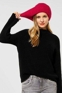 street one trui met staande kraag zwart