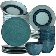 leonardo combi-servies matera rustieke uitstraling (set, 24 delig) blauw