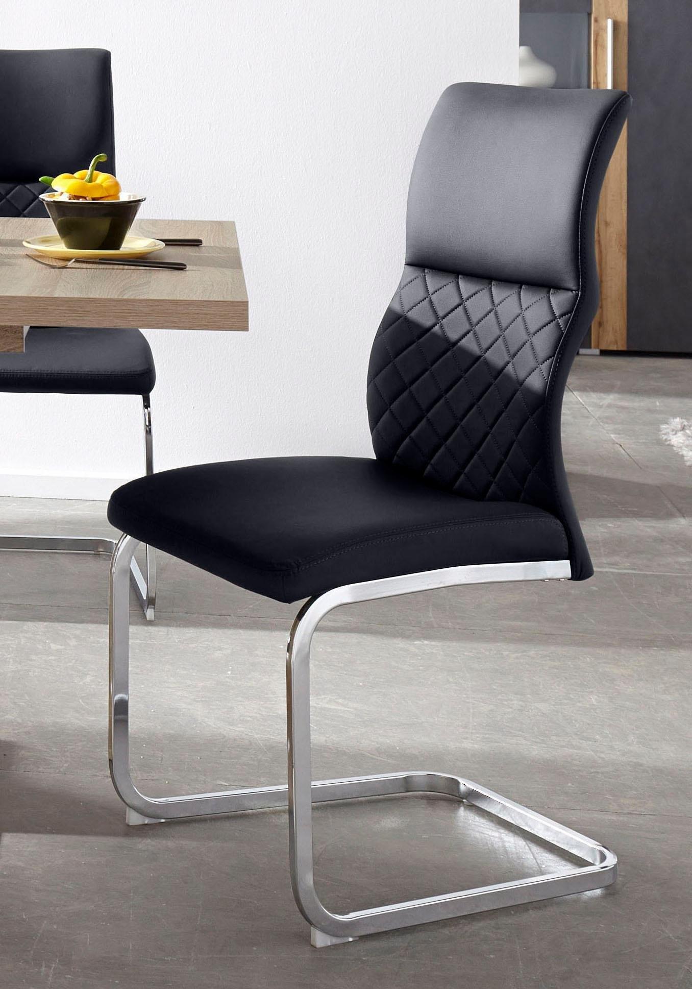 vrijdragende stoel in set van 2 of 4 my home stoel modena in set van 2 of 4 met metalen frame in diverse kleuren zithoogte 47 cm