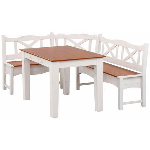 Home affaire hoekbank met tafel Vanda, 2-delig, van massief grenen