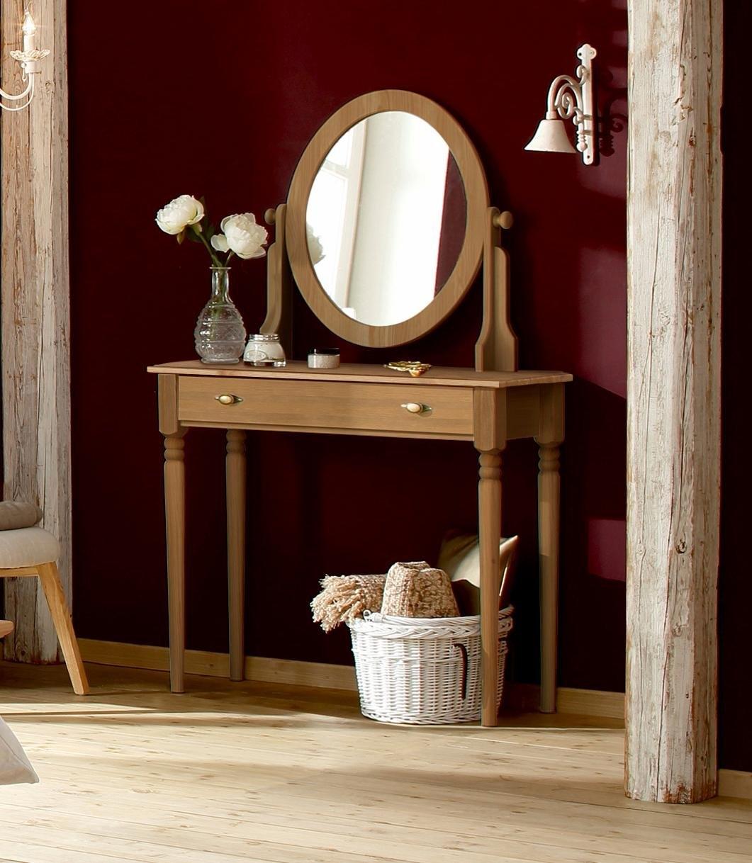 Verrassend Home affaire make-uptafel »Irena«, van massief hout, met spiegel NE-66