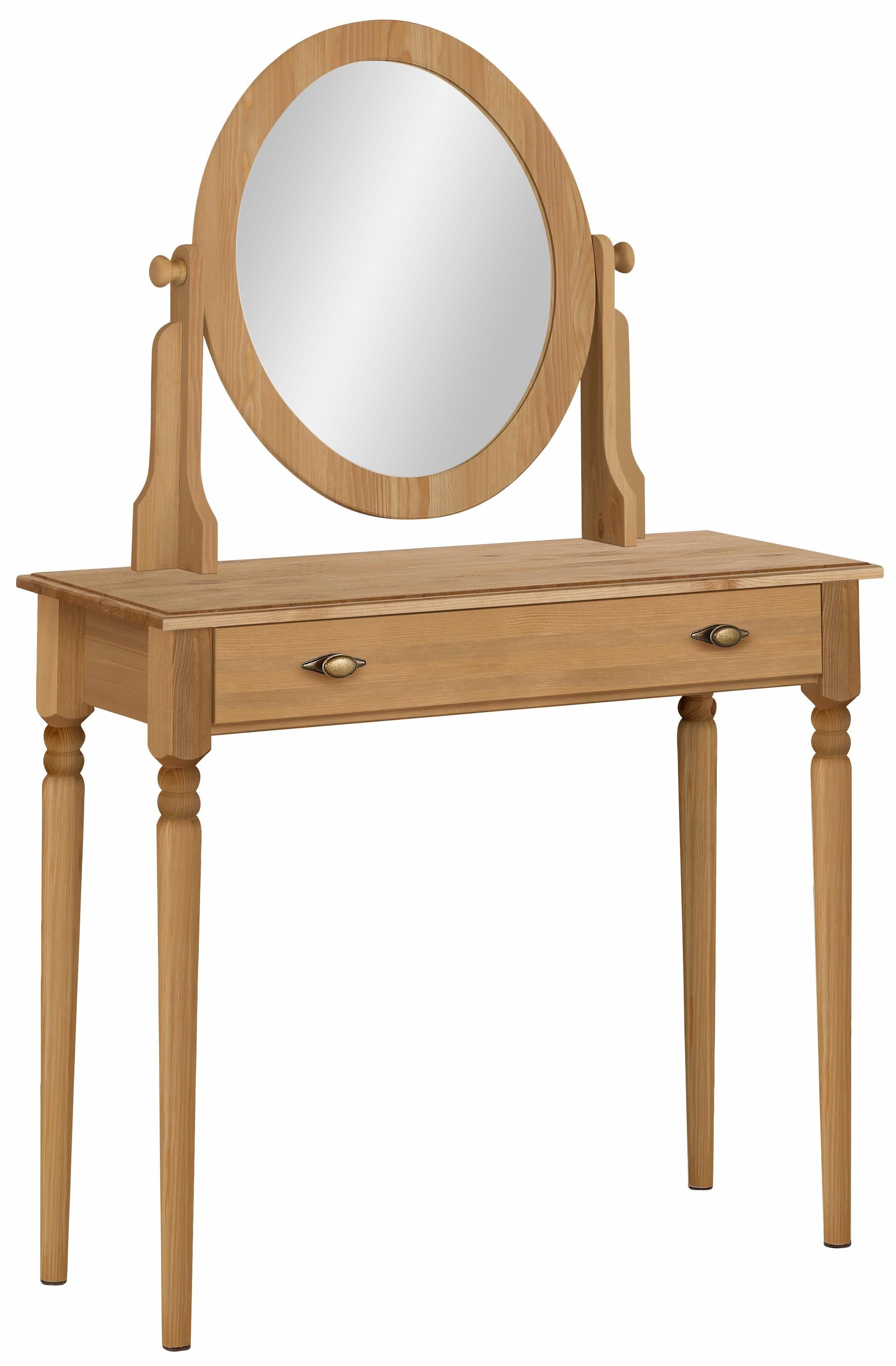 Home Affaire make-uptafel »Irena«, van massief hout, met spiegel en een lade bestellen: 30 dagen bedenktijd
