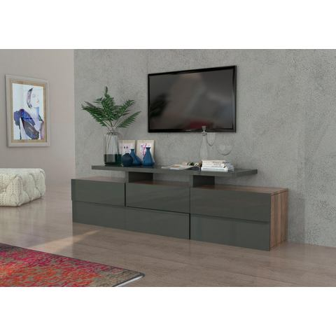 INOSIGN TV-meubel in 3D-look, breedte 201 cm
