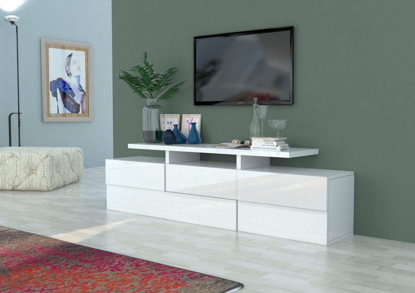 INOSIGN TV-meubel in 3D-look, breedte 201 cm