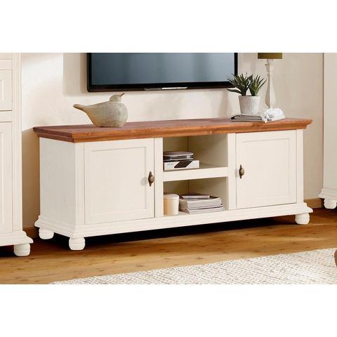 Home affaire tv-meubel Irena, massief hout, in 2 verschillende kleuren en 2 verschillende afm.