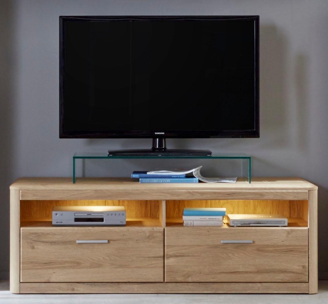 TV-meubel Siero, breedte 150 cm, met afgeronde hoeken